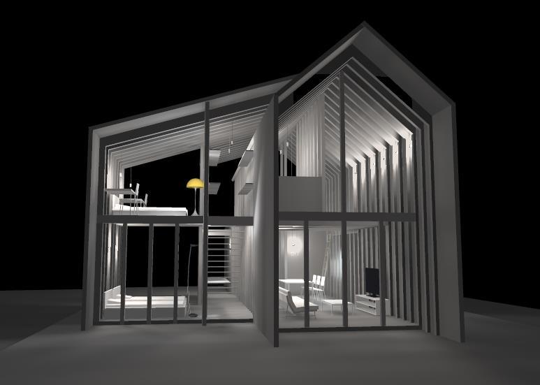 照明デザイン事務所 広島県 Tica.Tica CGシュミュレーション
